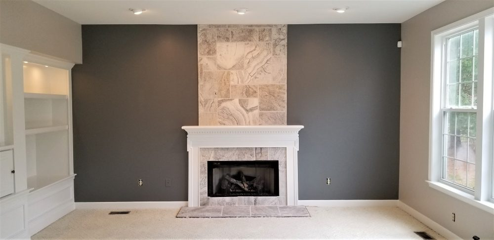 Beautiful living room fresh interior paint by Taylor Panting