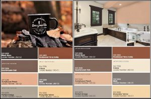 coffee color palettes