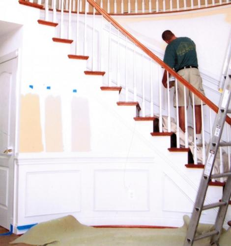 Staircase Paint Before
