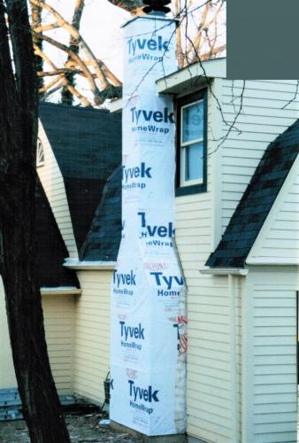 Chimney Exterior During