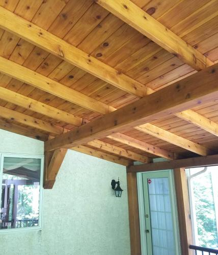 436 - WOOD PORCH ROOF AFTER